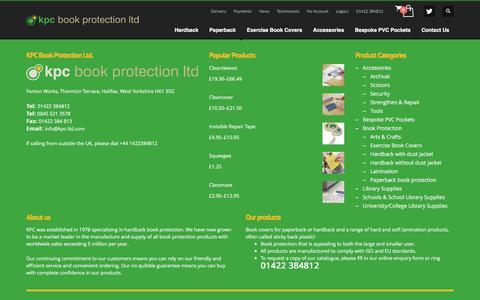 Screenshot of Press Page kpc-ltd.com - News – KPC Book Protection - captured Nov. 27, 2016