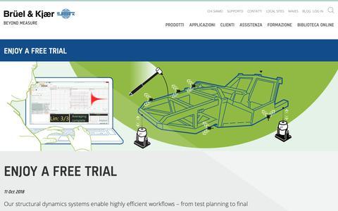 Screenshot of Trial Page bksv.com captured Oct. 25, 2018