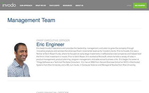 Screenshot of Team Page invodo.com - Leadership - Invodo Management & Boards - captured Feb. 10, 2017