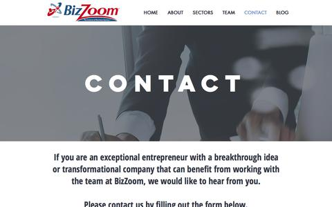 Screenshot of Contact Page bizzoom.com - BizZoom | Contact - captured June 1, 2017