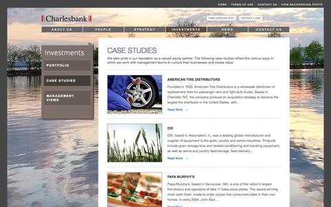 Screenshot of Case Studies Page charlesbank.com - Case Studies | Charlesbank - captured Oct. 2, 2014