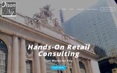 Screenshot of Home Page olsonng.com - Olson-NG Retail Consulting - captured Oct. 18, 2018