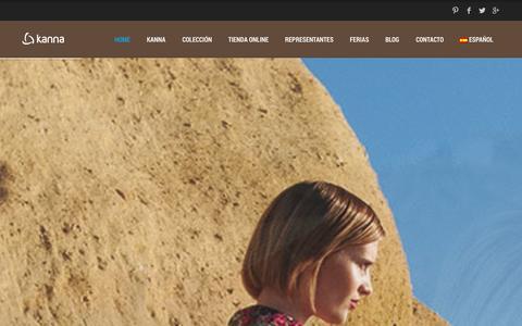 Screenshot of Home Page kannashoes.com - Kannashoes | Kanna Shoes - captured Oct. 1, 2014