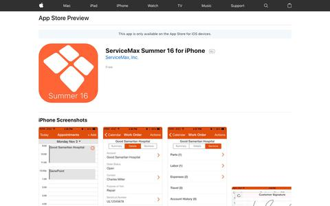 ServiceMax Summer 16 for iPhone on the AppStore