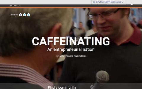 Screenshot of Home Page 1millioncups.com - Home | Caffeinating an entrepreneurial nation | 1MillionCups.com - captured Nov. 2, 2015
