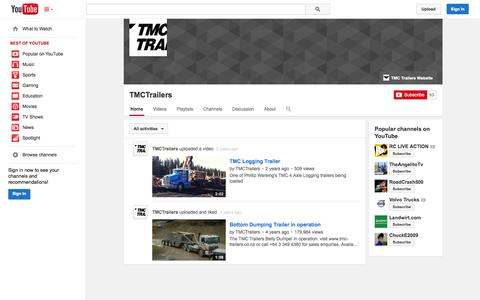 Screenshot of YouTube Page youtube.com - TMCTrailers  - YouTube - captured Oct. 26, 2014