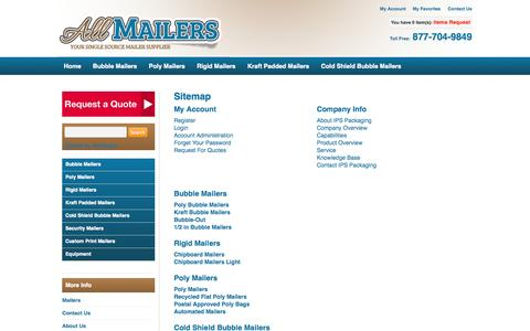 Screenshot of Site Map Page allmailers.com - Sitemap| All Mailers - captured Sept. 30, 2014