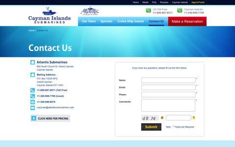 Contact to Atlantis Submarines - Cayman Islands, Grand Cayman Submarines Tour