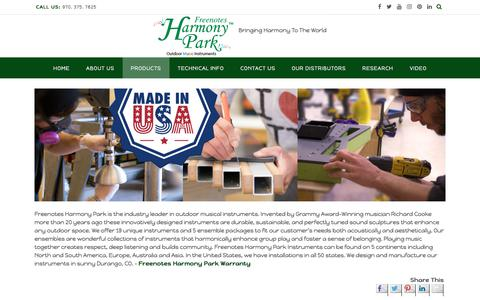 Screenshot of Products Page freenotesharmonypark.com - About - - captured Oct. 14, 2017