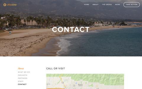 Screenshot of Contact Page uffiziorder.org - Contact Ń Uffizi Order - captured Dec. 20, 2015