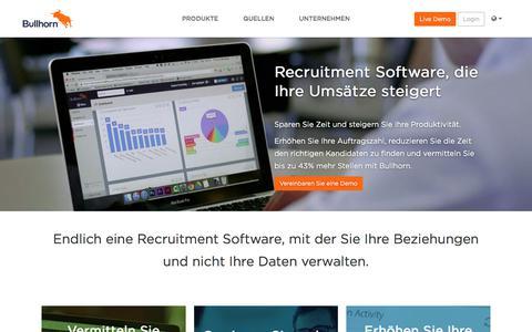 Recruitment Software | Applicant Tracking System | Bullhorn DE