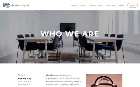 Screenshot of About Page Team Page visualfactory.net - Who we are — VisualFactory.net - captured March 9, 2018