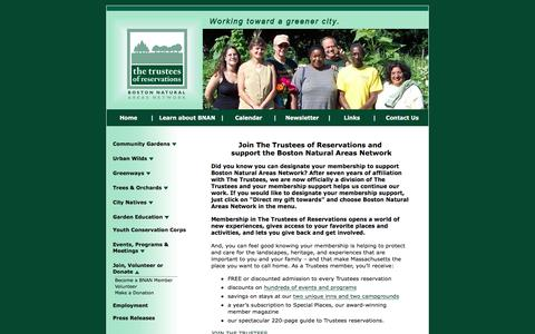 Screenshot of Signup Page bostonnatural.org - Become a BNAN Member - captured Nov. 23, 2016