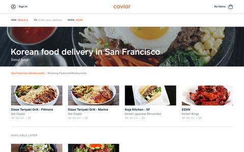 Korean food delivery in San Francisco | Caviar