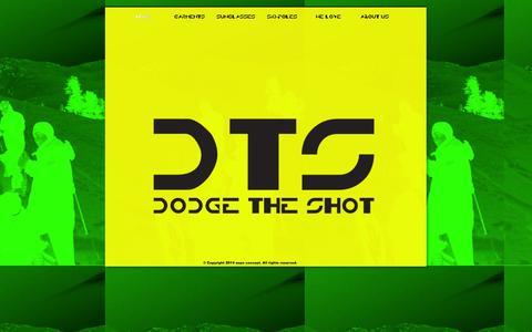 Screenshot of Home Page dodgetheshot.com - sport equipment - captured Sept. 30, 2014
