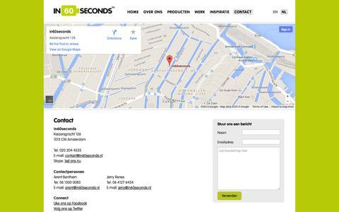 Screenshot of Contact Page in60seconds.nl - Contact opnemen met in60seconds - captured Sept. 30, 2014