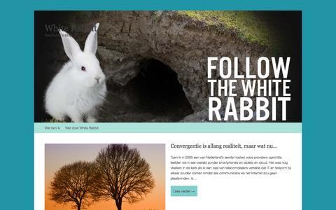 Screenshot of Home Page robkurver.com - White Rabbit | Rob Kurver's Blog - captured Oct. 7, 2014