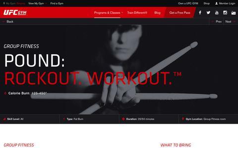 POUND: Rockout. Workout.™ Classes & Training | Gym & Fitness | UFC GYM