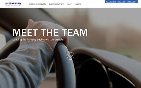 Screenshot of Team Page safe-guardproducts.com - Leadership | Safe-Guard Products - captured July 26, 2018