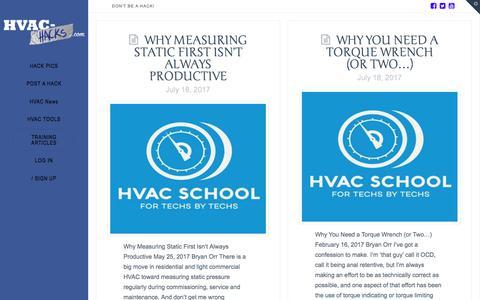 Training articles | HVAC Hacks