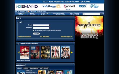 Screenshot of Login Page indemand.com - Log In | iN DEMAND - captured Nov. 4, 2014