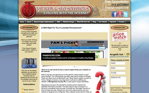 Screenshot of Home Page njtwebseo.com - Search Engine Optimization Company | Montgomery County - captured Oct. 6, 2014