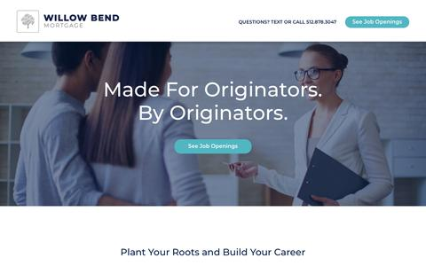 Screenshot of Jobs Page wbm.com - Careers | Willow Bend Mortgage - captured Sept. 26, 2018