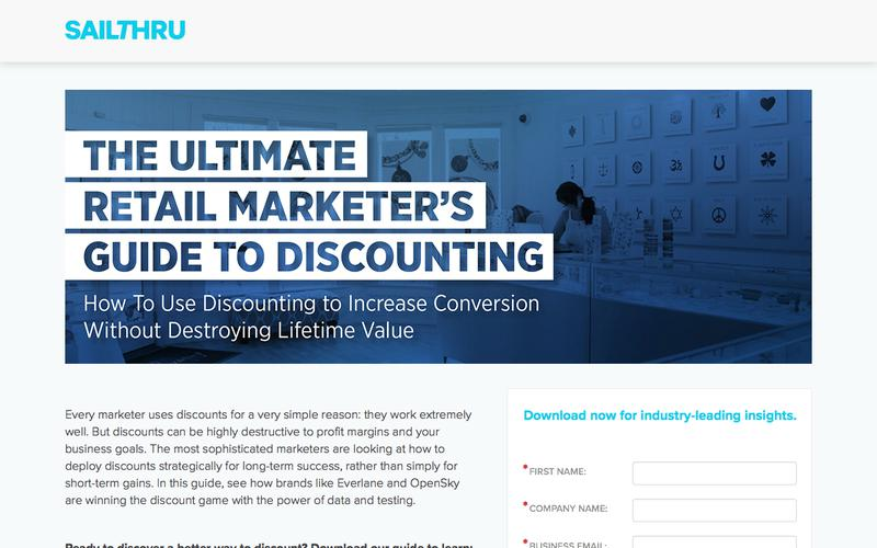 Retail Marketer's Guide to Discounting | Sailthru