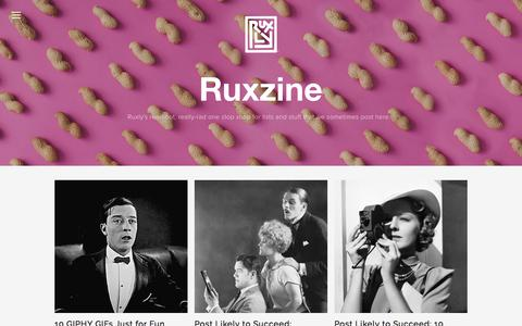 Screenshot of Blog ruxly.com - RUX-ZINE — Ruxly - captured Sept. 25, 2018