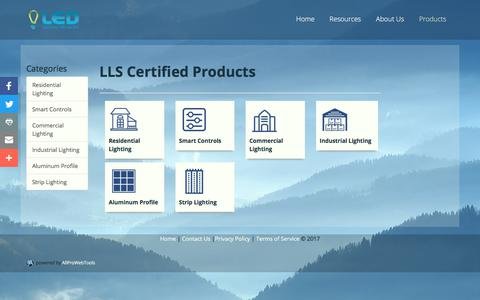 Screenshot of Products Page ledlightingcolorado.com - Products - captured July 8, 2017
