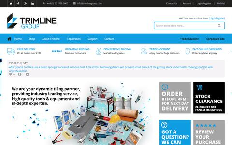 Screenshot of Home Page trimlinegroup.com - Trimline Group - captured Dec. 16, 2016