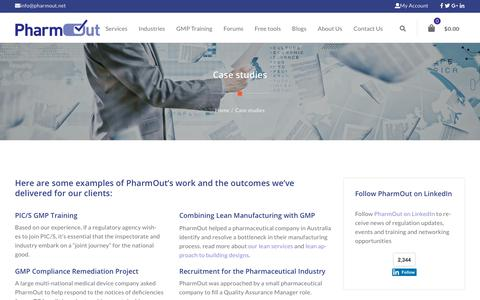PharmOut case studies