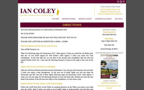 Screenshot of Maps & Directions Page iancoley.co.uk - Directions to Ian Coleys Shooting Ground | Find Ian Coleys - captured Oct. 6, 2014