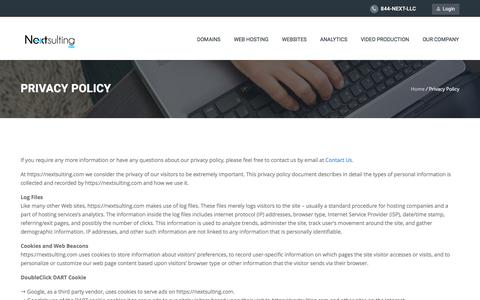 Screenshot of Privacy Page nextsulting.com - Privacy Policy – Nextsulting LLC - captured Jan. 5, 2017