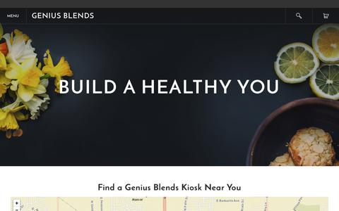 Screenshot of Locations Page geniusblends.com - Locations - Genius Blends - captured Jan. 27, 2016