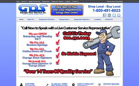 Screenshot of Home Page garagedoorservice.com - Garage Door Services Home - Garage Door Service CO. - captured Oct. 1, 2014