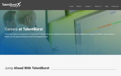 Screenshot of Jobs Page talentburst.com - Find Careers at TalentBurst | TalentBurst - captured Nov. 11, 2015