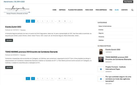 Screenshot of Blog horizonteseguros.com.br - Blog - Horizonte - Corretora de Seguros - captured July 14, 2018