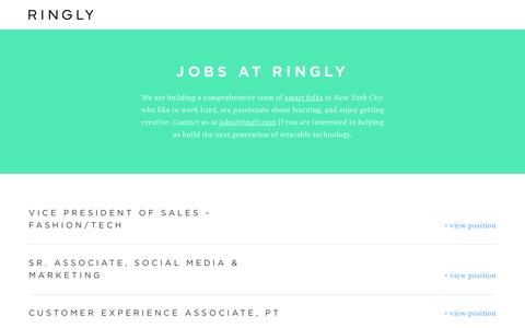 Screenshot of Jobs Page ringly.com - RINGLY | Jobs - captured Nov. 17, 2015