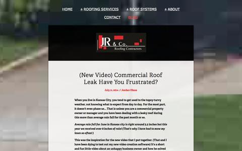 Screenshot of Blog jrroofinginc.com - Blog — Roofing Contractor Kansas City | JR & Co - captured Oct. 4, 2014
