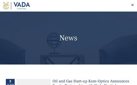 Screenshot of Press Page vadacapital.com - News – Vada Capital - captured Oct. 20, 2018