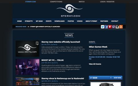 Screenshot of Press Page stermy.com - News Archive - Stermy - captured Oct. 7, 2014