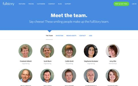 Screenshot of Team Page fullstory.com - Company | FullStory - captured Dec. 1, 2015