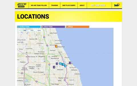 Screenshot of Locations Page sportsmadepersonal.com - Sports Made Personal Sport Specific Training - captured Oct. 1, 2014