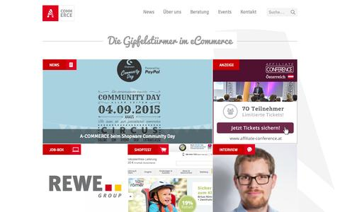 Screenshot of Home Page a-commerce.at - eCommerce in Österreich: A-COMMERCE - captured Sept. 2, 2015