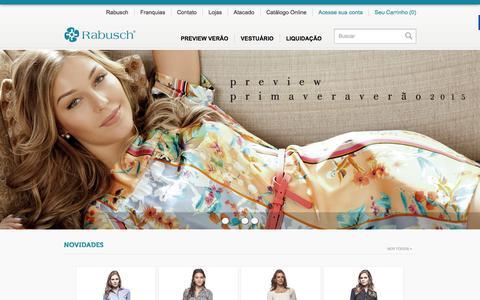 Screenshot of Home Page rabusch.com.br - Rabusch. A moda é elas no comando! - Rabusch - captured Sept. 22, 2014