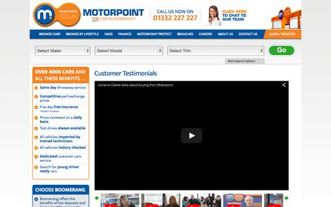 Screenshot of motorpoint.co.uk - Testimonials Parent Container - captured Oct. 2, 2015