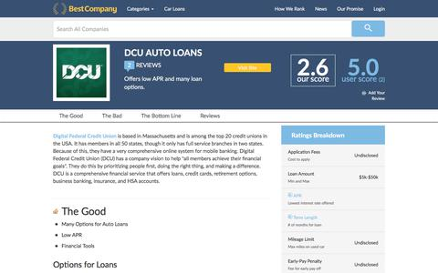 DCU Auto Loans Reviews | BestCompany.com