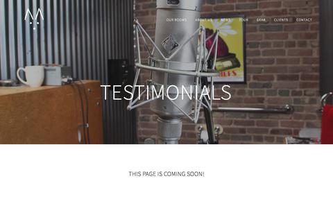 Screenshot of Testimonials Page echomountain.net - Testimonials — Echo Mountain Recording - captured July 14, 2017