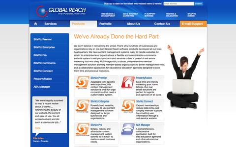 Screenshot of Products Page globalreach.com - Ecommerce Website in Iowa | Content Management - captured Nov. 9, 2016